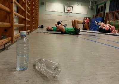 Gymnastik på måtte